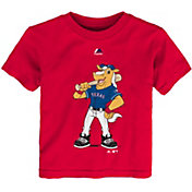 Majestic Toddler Texas Rangers Mascot Red T-Shirt