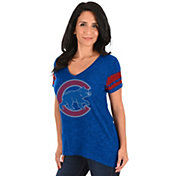 Majestic Women's Chicago Cubs Royal V-Neck T-Shirt