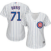 Majestic Women's Replica Chicago Cubs Wade Davis #71 Cool Base Home White Jersey