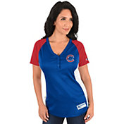 Majestic Women's Chicago Cubs Diva Royal V-Neck T-Shirt