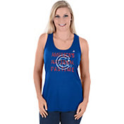 Majestic Women's Chicago Cubs Royal Americana Scoop Neck Tank