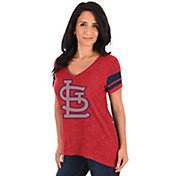 Majestic Women's St. Louis Cardinals Red V-Neck T-Shirt
