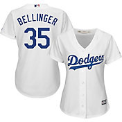 Majestic Women's Replica Los Angeles Dodgers Cody Bellinger #35 Cool Base Home White Jersey