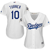 Majestic Women's 2017 World Series Replica Los Angeles Dodgers Justin Turner Cool Base Home White Jersey