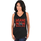 Majestic Women's Miami Marlins Four Seamer Black Tank