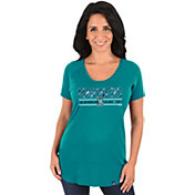 Majestic Women's Seattle Mariners Teal Scoop Neck T-Shirt