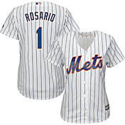 Majestic Women's Replica New York Mets Amed Rosario #1 Cool Base Home White Jersey