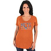 Majestic Women's New York Mets Orange Scoop Neck T-Shirt