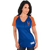 Majestic Women's New York Mets Diva Royal V-Neck T-Shirt