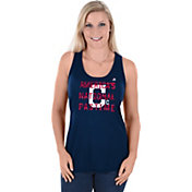 Majestic Women's Cleveland Indians Navy Americana Scoop Neck Tank