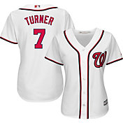 Majestic Women's Replica Washington Nationals Trea Turner #7 Cool Base Home White Jersey