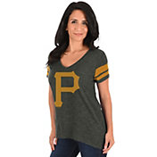 Majestic Women's Pittsburgh Pirates Grey V-Neck T-Shirt