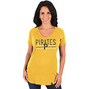 Majestic Women's Pittsburgh Pirates Gold Scoop Neck T-Shirt