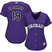 Majestic Women's Replica Colorado Rockies Charlie Blackmon #19 Cool Base Alternate Purple Jersey