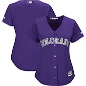 Majestic Women's Replica Colorado Rockies Cool Base Alternate Purple Jersey