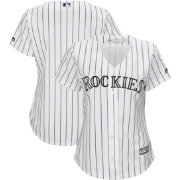Majestic Women's Replica Colorado Rockies Cool Base Home White Jersey