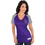 Majestic Women's Colorado Rockies Diva Purple V-Neck T-Shirt