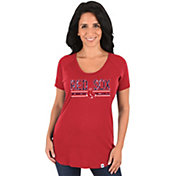 Majestic Women's Boston Red Sox Red Scoop Neck T-Shirt