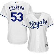 Majestic Women's Replica Kansas City Royals Melky Cabrera #53 Cool Base Home White Jersey