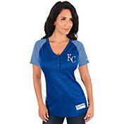 Majestic Women's Kansas City Royals Diva Royal V-Neck T-Shirt