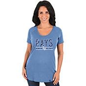 Majestic Women's Tampa Bay Rays Light Blue Scoop Neck T-Shirt