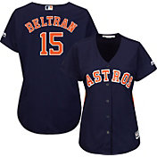 Majestic Women's Replica Houston Astros Carlos Beltran #15 Cool Base Alternate Navy Jersey