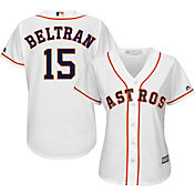 Majestic Women's Replica Houston Astros Carlos Beltran #15 Cool Base Home White Jersey