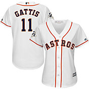 Majestic Women's 2017 World Series Replica Houston Astros Evan Gattis Cool Base Home White Jersey