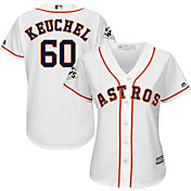 Majestic Women's 2017 World Series Replica Houston Astros Dallas Keuchel Cool Base Home White Jersey