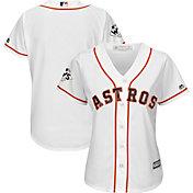 Majestic Women's 2017 World Series Replica Houston Astros Cool Base Home White Jersey