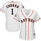 Majestic Women's 2017 World Series Replica Houston Astros Carlos Correa Cool Base Home White Jersey