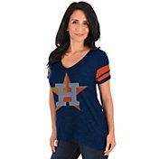 Majestic Women's Houston Astros Navy V-Neck T-Shirt