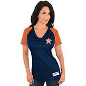 Majestic Women's Houston Astros Diva Navy V-Neck T-Shirt