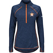 Majestic Women's Houston Astros Cool Base Navy Half-Zip Pullover