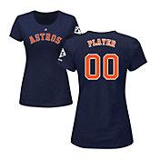 Majestic Women's Full Roster Replica 2017 World Series Houston Astros Navy T-Shirt