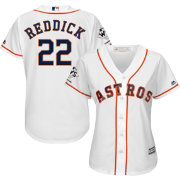 Majestic Women's 2017 World Series Champions Replica Houston Astros Josh Reddick Cool Base Home White Jersey