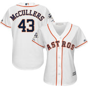 Majestic Women's 2017 World Series Champions Replica Houston Astros Lance McCullers Cool Base Home White Jersey