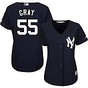 Majestic Women's Replica New York Yankees Sonny Gray #55 Cool Base Alternate Home Navy Jersey