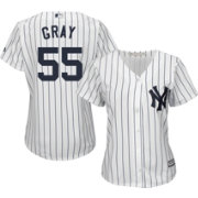 Majestic Women's Replica New York Yankees Sonny Gray #55 Cool Base Home White Jersey