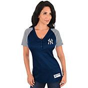 Majestic Women's New York Yankees Diva Navy V-Neck T-Shirt