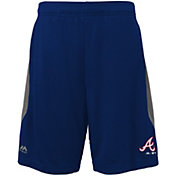 Majestic Youth Atlanta Braves Cool Base Rally Navy Performance Shorts