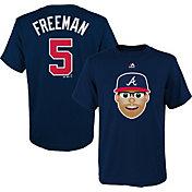 Majestic Youth Atlanta Braves Freddie Freeman Emoji Navy T-Shirt