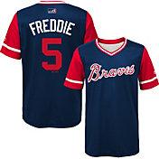 """Majestic Youth Atlanta Braves Freddie Freeman """"Freddie"""" MLB Players Weekend Jersey Top"""