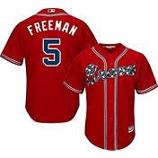 Majestic Youth Replica Atlanta Braves Freddie Freeman #5 Cool Base Alternate Red Jersey