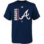 Majestic Youth Atlanta Braves Authentic Collection Navy T-Shirt