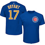 Majestic Youth Chicago Cubs World Series Champs Kris Bryant #17 Royal/Gold T-Shirt