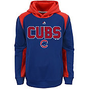 Majestic Youth Chicago Cubs Therma Base Geo Fuse Royal Hooded Fleece