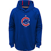 Majestic Youth Chicago Cubs Performance Royal Pullover Hoodie