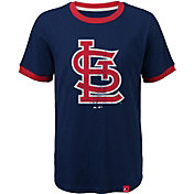Majestic Youth St. Louis Cardinals Ringer Navy T-Shirt