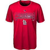Majestic Youth St. Louis Cardinals Cool Base Light Up Red Performance T-Shirt